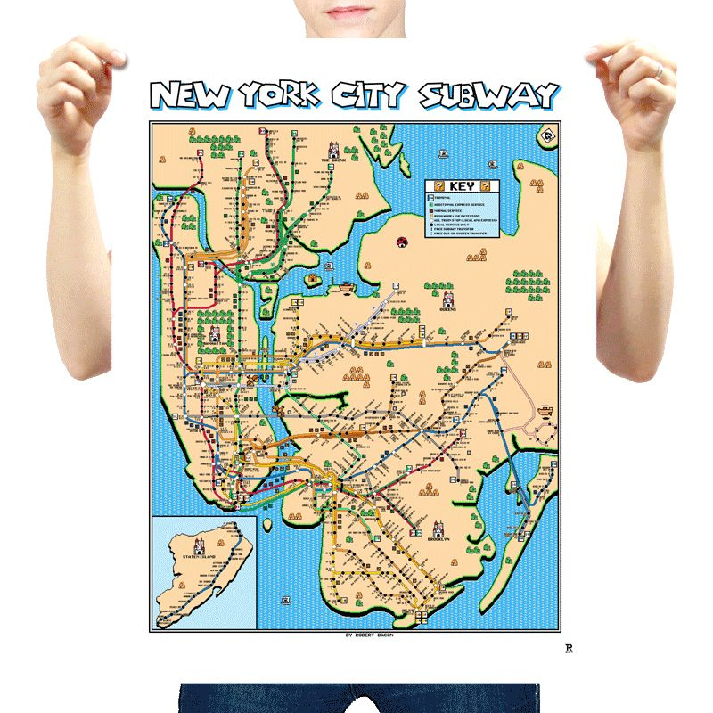 Super mario bros 3 new york city subway map by robert bacong 800 super mario bros 3 new york city subway gumiabroncs Image collections