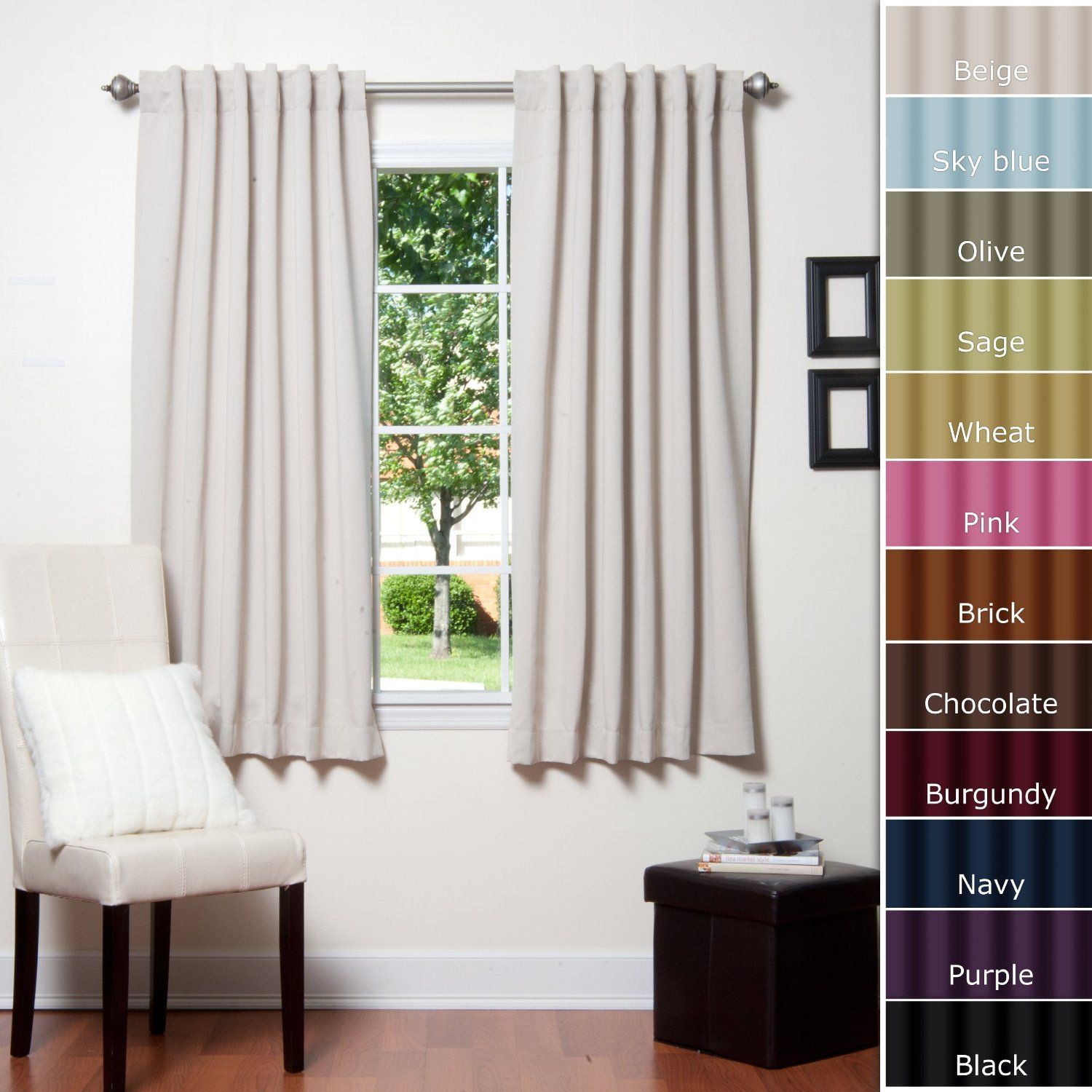 Window treatment ideas for apartment  amazon solid thermal insulated back tap blackout curtain l