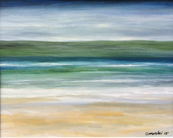 watercolor beach painting ocean painting framed modern beach art contemporary abstract seascape seascape beach