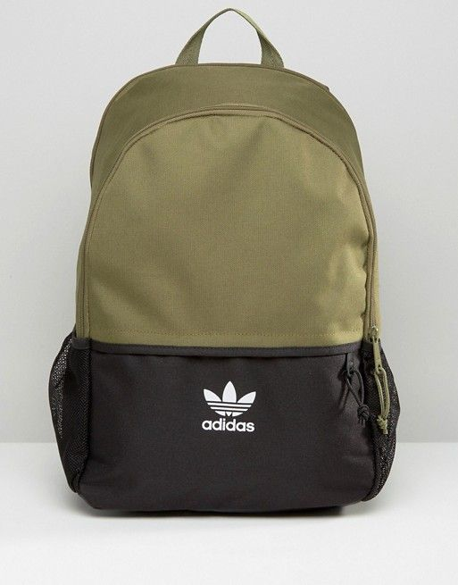 7f9b29bb31 adidas Originals Color Block Backpack With Mini Trefoil Logo ...