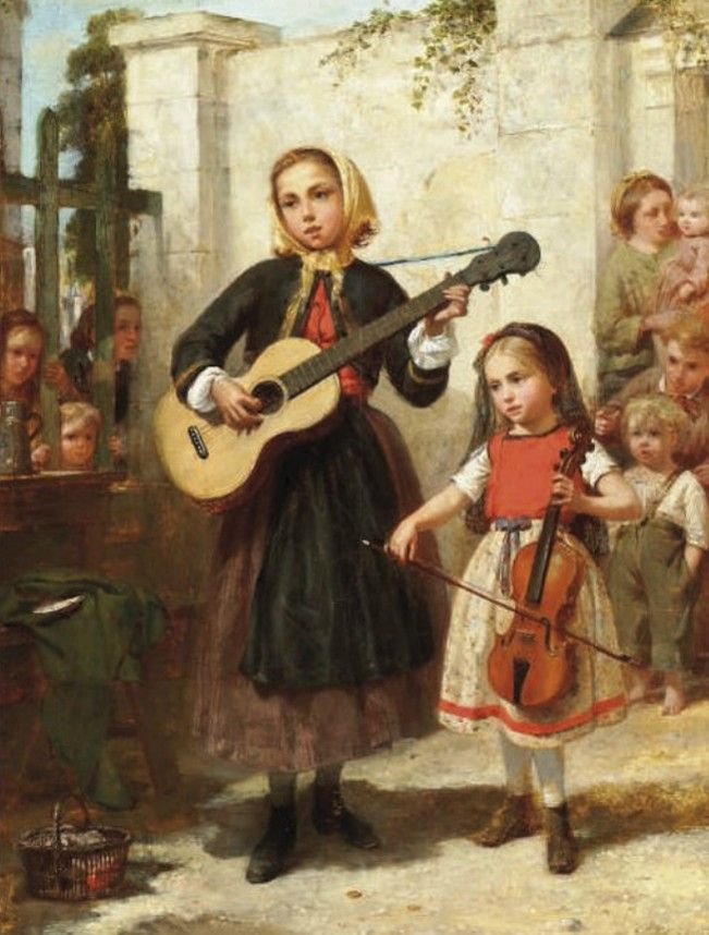Charles Auguste Romain Lobbedez (1825-1882) The young maestros