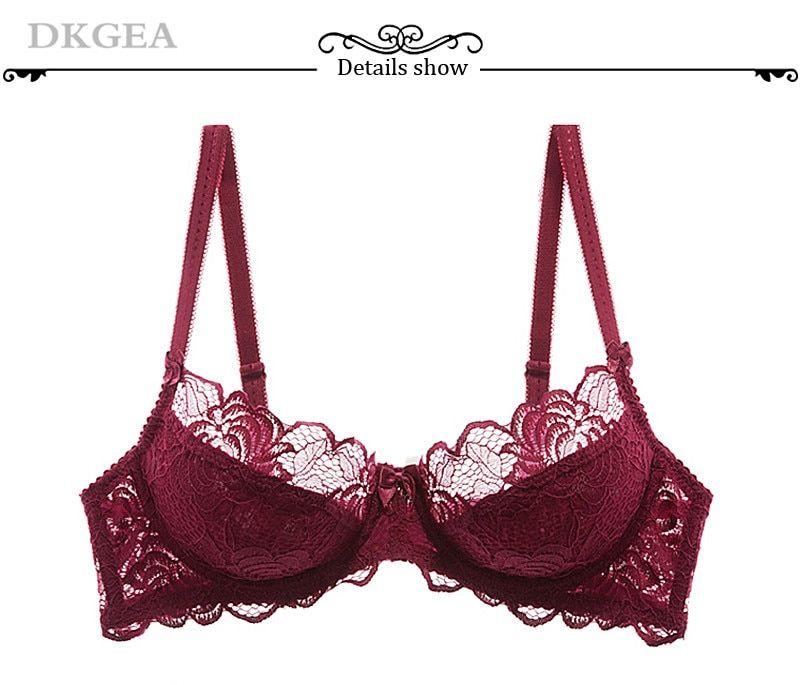 115bd02cd2e Hollow Sexy Bra Ultrathin Underwear Set Plus Size C D Cup Women Transparent  Bra Sets Lace Embroidery Lingerie Gray Brassiere