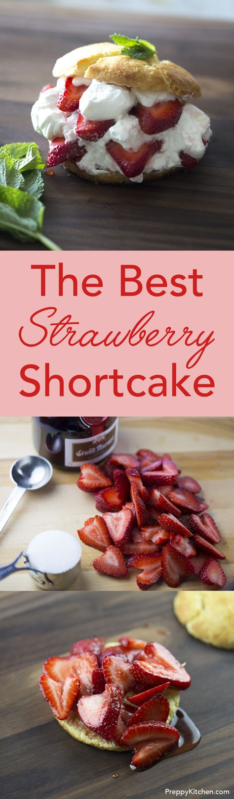 This easy to make strawberry shortcake is destined to be a hit wherever it's served. Click over for the full recipe and video!