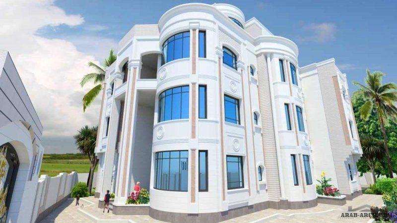 واجهات مباني وعمارات من اعمال مهندس وائل البرهمي House Styles Mansions Building