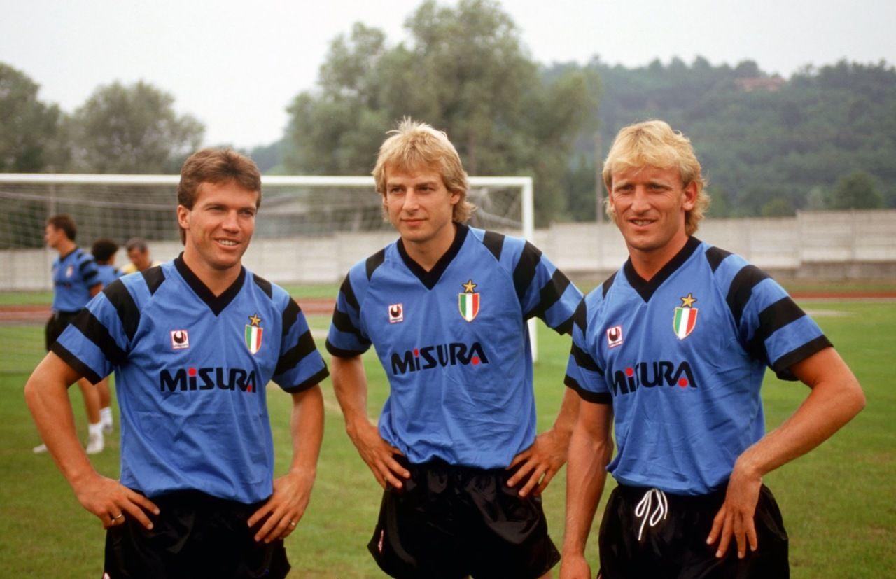 Inter Milan - German trio - Mathaus, Kinsmann & Brehme | Football ...