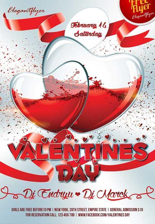 Valentine Flyer Free Psd