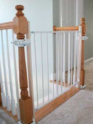 Baby Proof Child Gate Without Drilling Into Banister Baby Gates