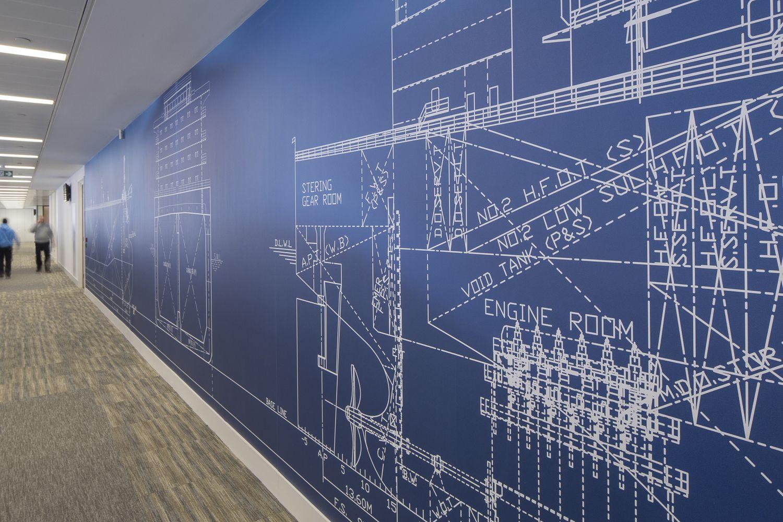 Braemar Acm Shipbroking Wall Nautical Wall Mural Exhibition