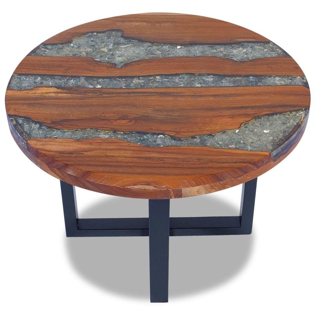 Vidaxl Solid Teak Coffee Table Resin Mango Wood Handmade Paint Finish Furniture Click Image To Ev In 2020 Coffee Table Living Room Decor Furniture Coffee Table Wood