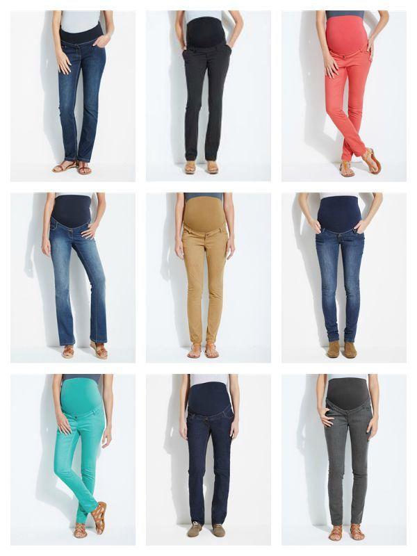 acbe43f43 Selección de pantalones premamá rebajados aptos para el otoño.