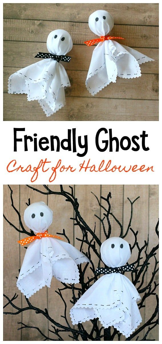 Friendly Ghost Craft for Halloween - Buggy and Buddy