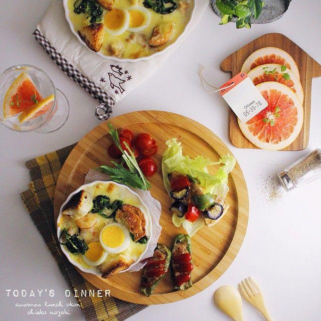 * * Today's dinner♡** * * 残ったパンで パングラタン(*´艸`)♪ * * #料理#夕食#夜ごはん#うちごはん#おうちごはん#ワンプレート#Dinner#food#cooking#oneplate#onmytable#onthetable#foodphoto#foodpics#foodart#eat#handmade#homemade#homecook#canon#yummy#yum#instapic#instafood#instacanon#vscocam#vsco#vsco_food#vscofood