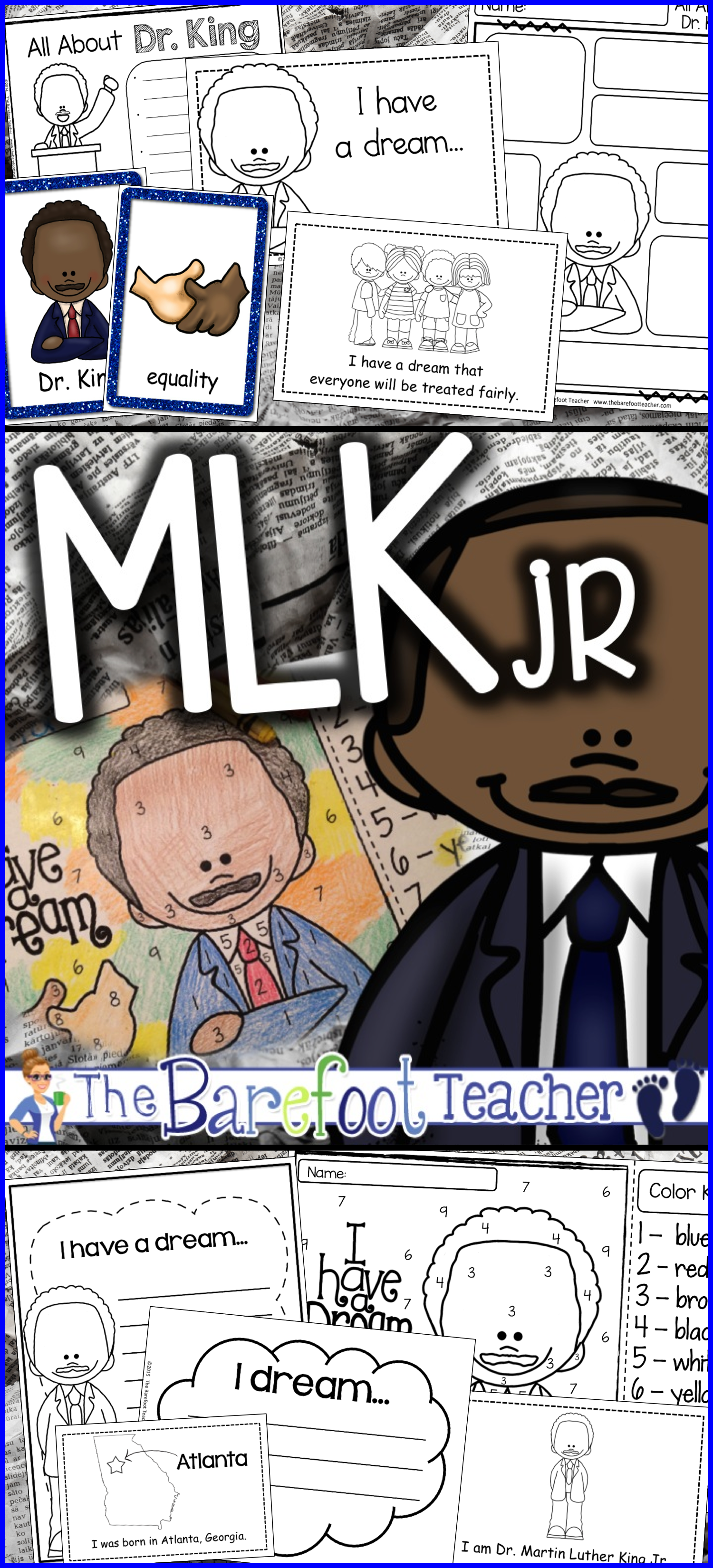 Martin Luther King Jr Bundle Of Activities