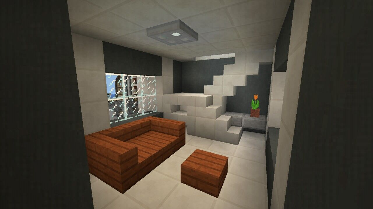 Small Spaced Living Room Idea Minecraft Livingroom House Home Small Living Rooms Small Space Living Small Rooms