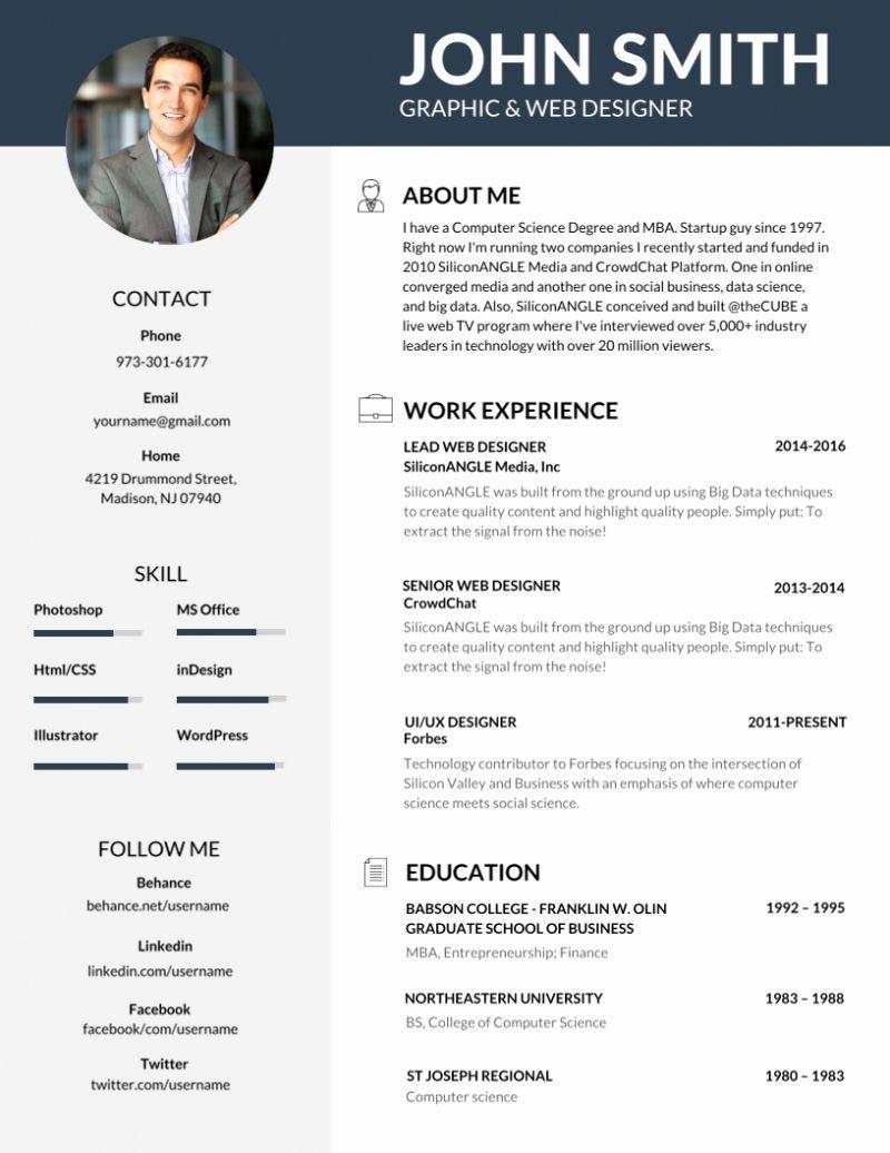 40 Professional Resume Template Word In 2020 Editable Resume