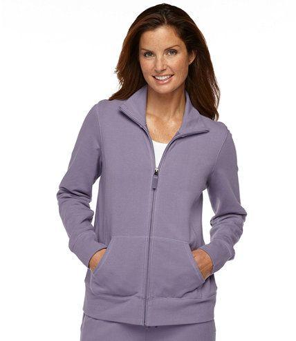 Ultrasoft Sweats, Full-Zip Mock-Neck Jacket: Fleece Tops and Sweatshirts   Free Shipping at L.L.Bean