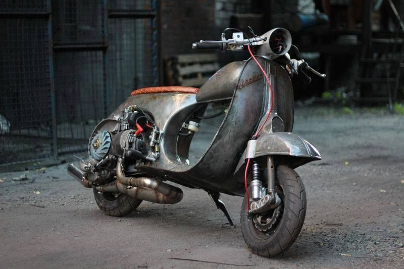 Rhubarbes rat vespa via cafe racer s passion via cafe for Vespa cafe racer