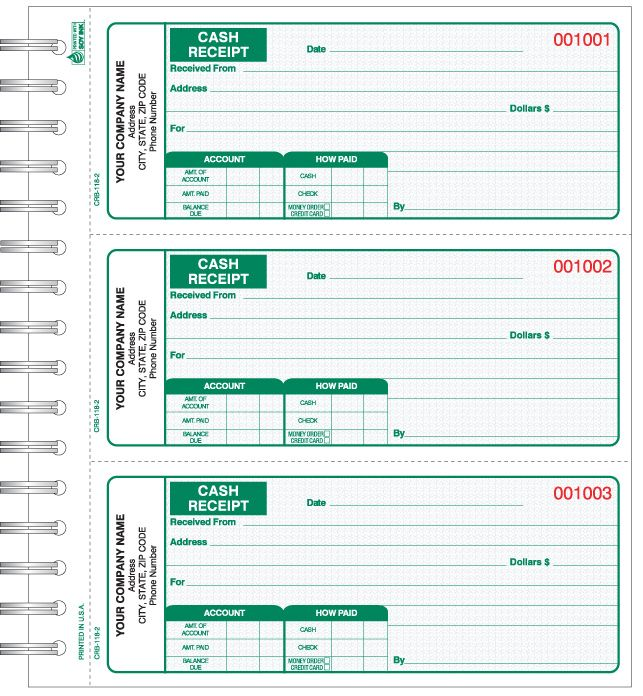 Cash Receipt Books Manual Business Forms Pinterest Business - cash receipt sample
