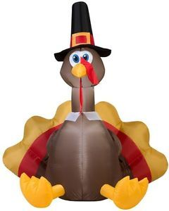Airblown inflatable happy thanksgiving lighting turkey stake outdoor airblown inflatable happy thanksgiving lighting turkey stake outdoor decoration ebay aloadofball Images