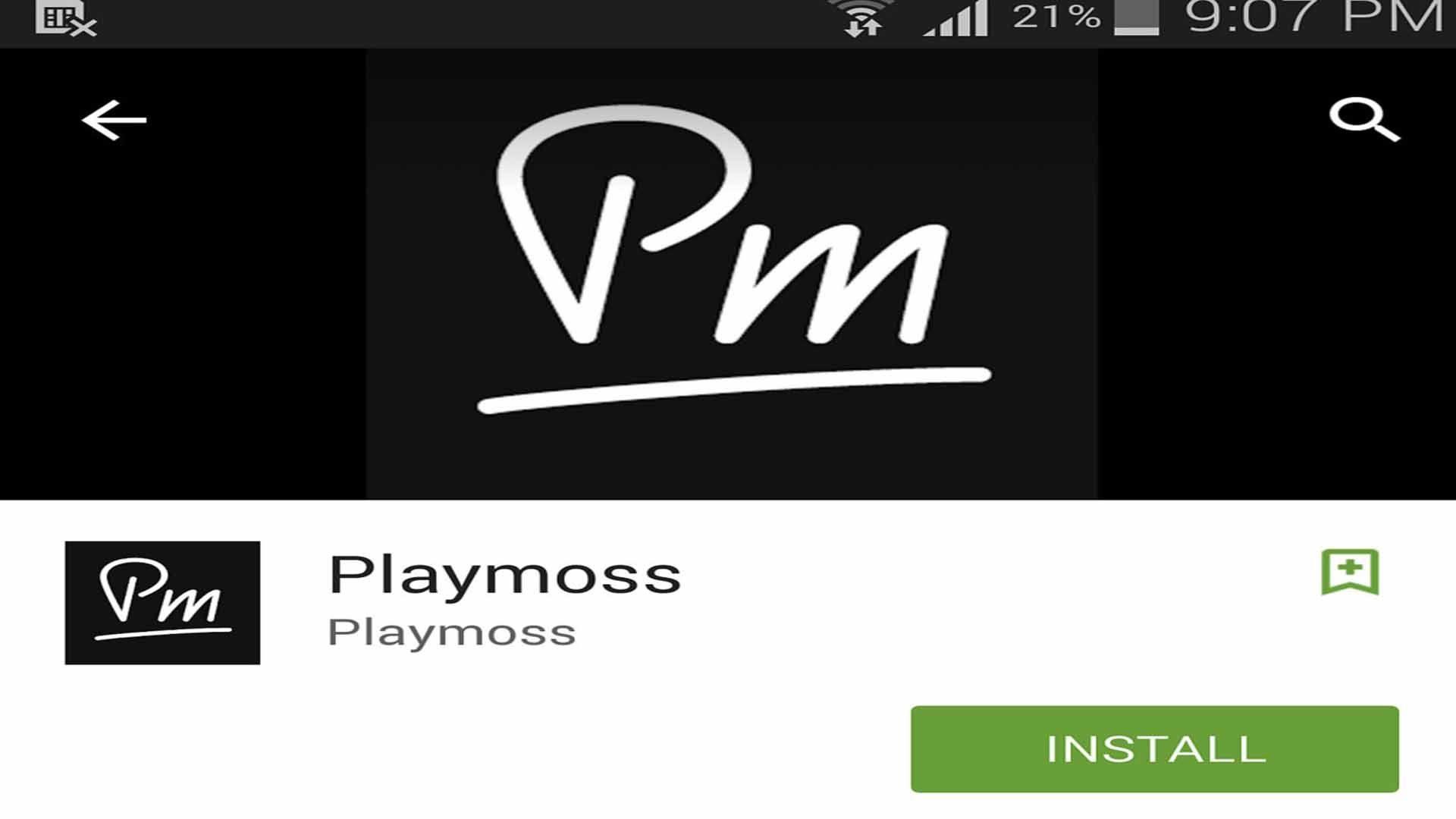 Playmoss -  listas de reproducción para Android