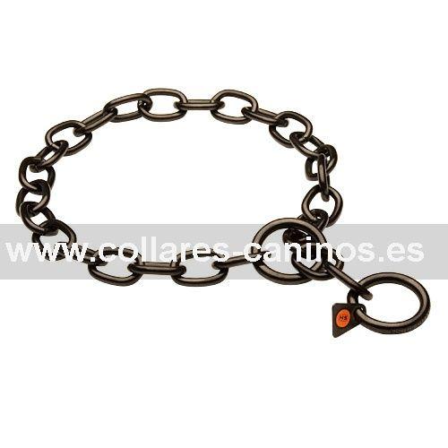 0a6b69082b66 Collar de ahorque de acero inoxidable negro - HS 51541 (57)