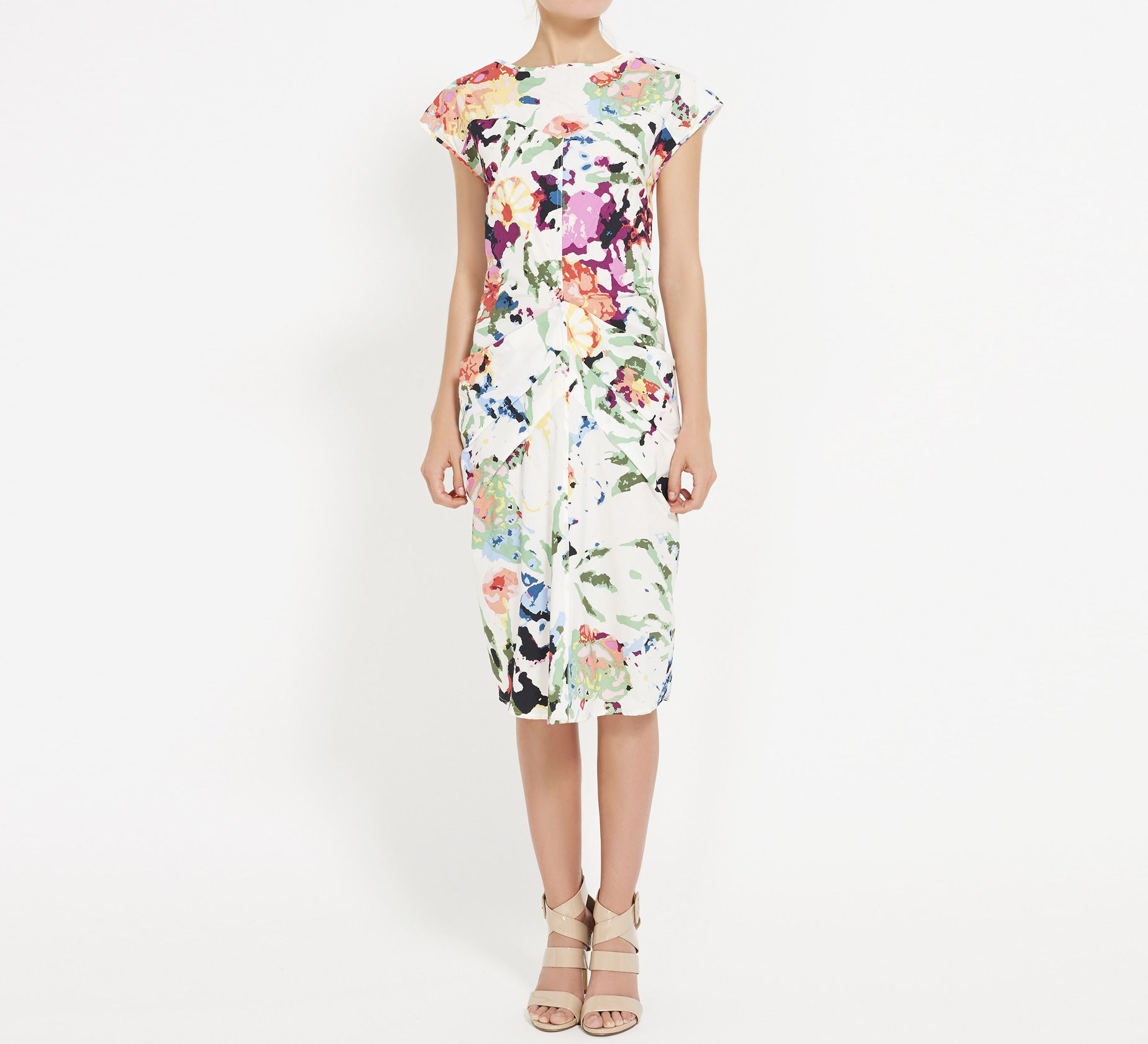 Thakoon White, Blue And Multicolor Dress