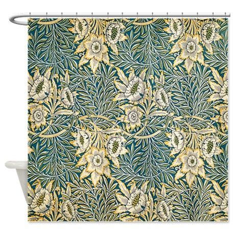 William Morris Tulip And Willow Shower Curtain By Fineartdesigns