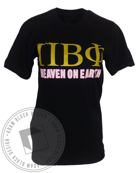 Pi Beta Phi Heaven On Earth Angels Short Sleeve by Adam Block Design | Custom Greek Apparel & Sorority Clothes | www.adamblockdesign.com