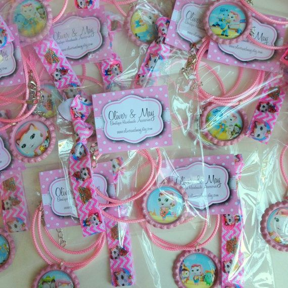 5 Sets Sheriff Callie Birthday Party Favor Hairbow by OliverandMay