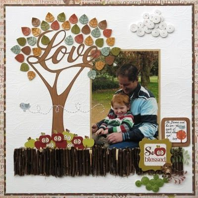 would be great for a family tree layout child scrapbook page