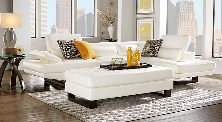 Affordable Sectional Leather Living Rooms - Rooms To Go Furniture ...