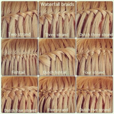 Waterfall Braids Two Strands Three Strands Dutch Three Strand