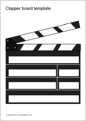 editable clapper board templates (sb7427) - sparklebox | hollywood, Powerpoint templates