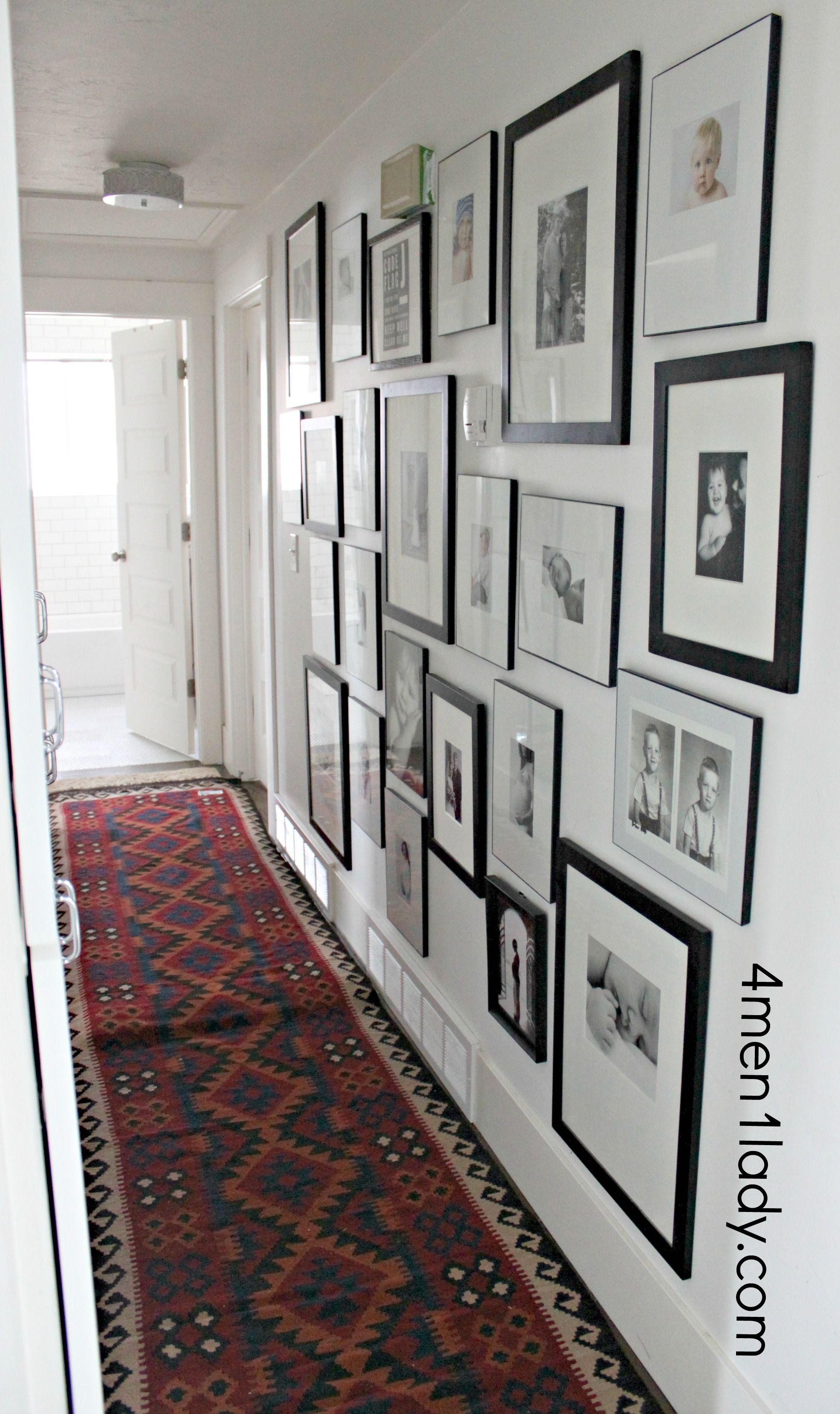 Hallway leading to the ladies rooms - Gallery Wall From 4 Men A Lady Refers To Penny Sale At Aaron Brothers