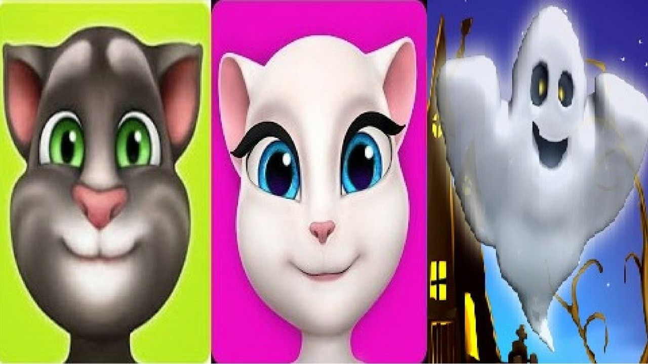 Talking Tom Vs Talking Angela vs Talking Ghost Android