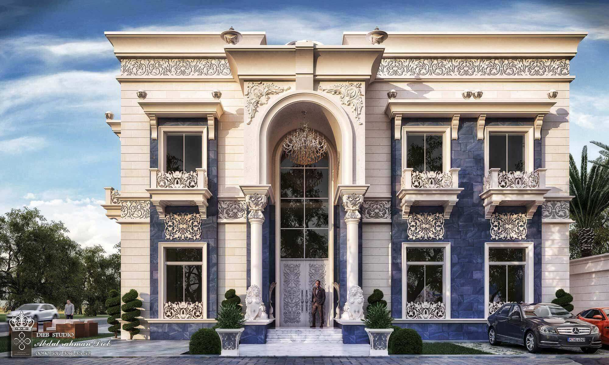 Come And Design Your Villa Or Building Or Hotel Or Interior Decor Or Exterior Design With Us W House Balcony Design Classic House Exterior Dream House Exterior