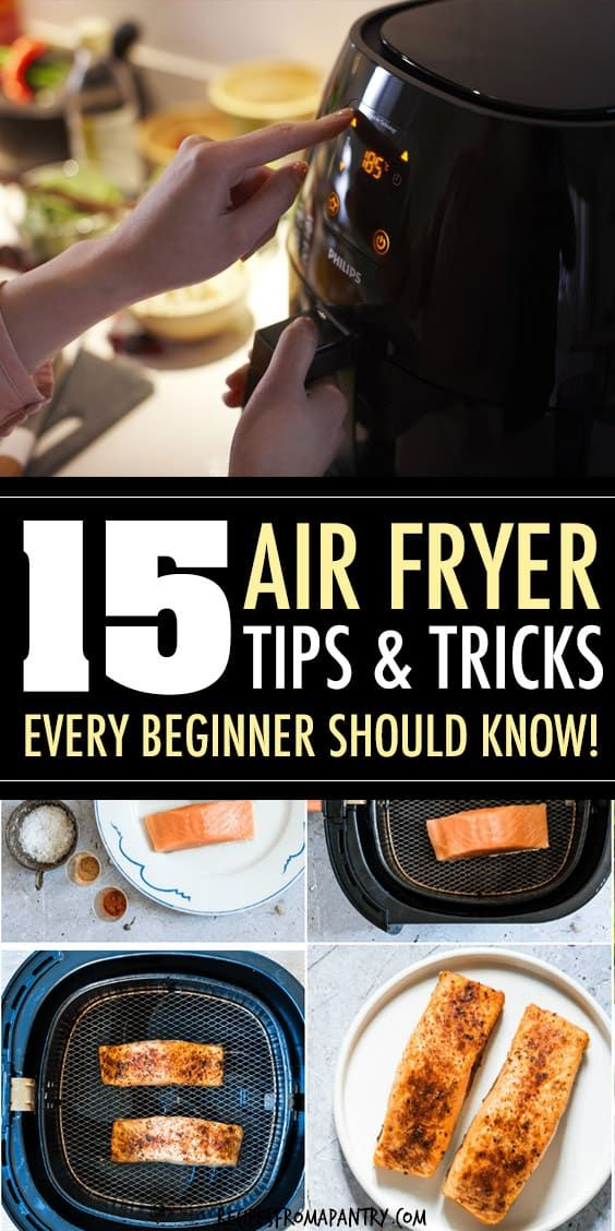 These 15 Air Fryer Tips make cooking delicious dishes in your Air Fryer easier, efficient and more fun! Whether you're new to the world of air frying or a seasoned pro, you'll want to keep these tips on hand for quick reference. Post also includes my favourite and most popular Air Fryer Recipes. Click through to get the super helpful air fryer tips!! #airfryer #airfryertips #airfryerrecipes #airfriedfoods #airfryerrecipes