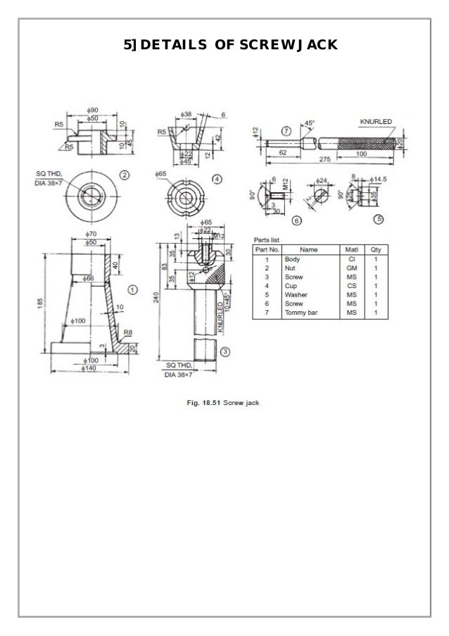 assembly  details machine drawing    mechanical engineering design drawing