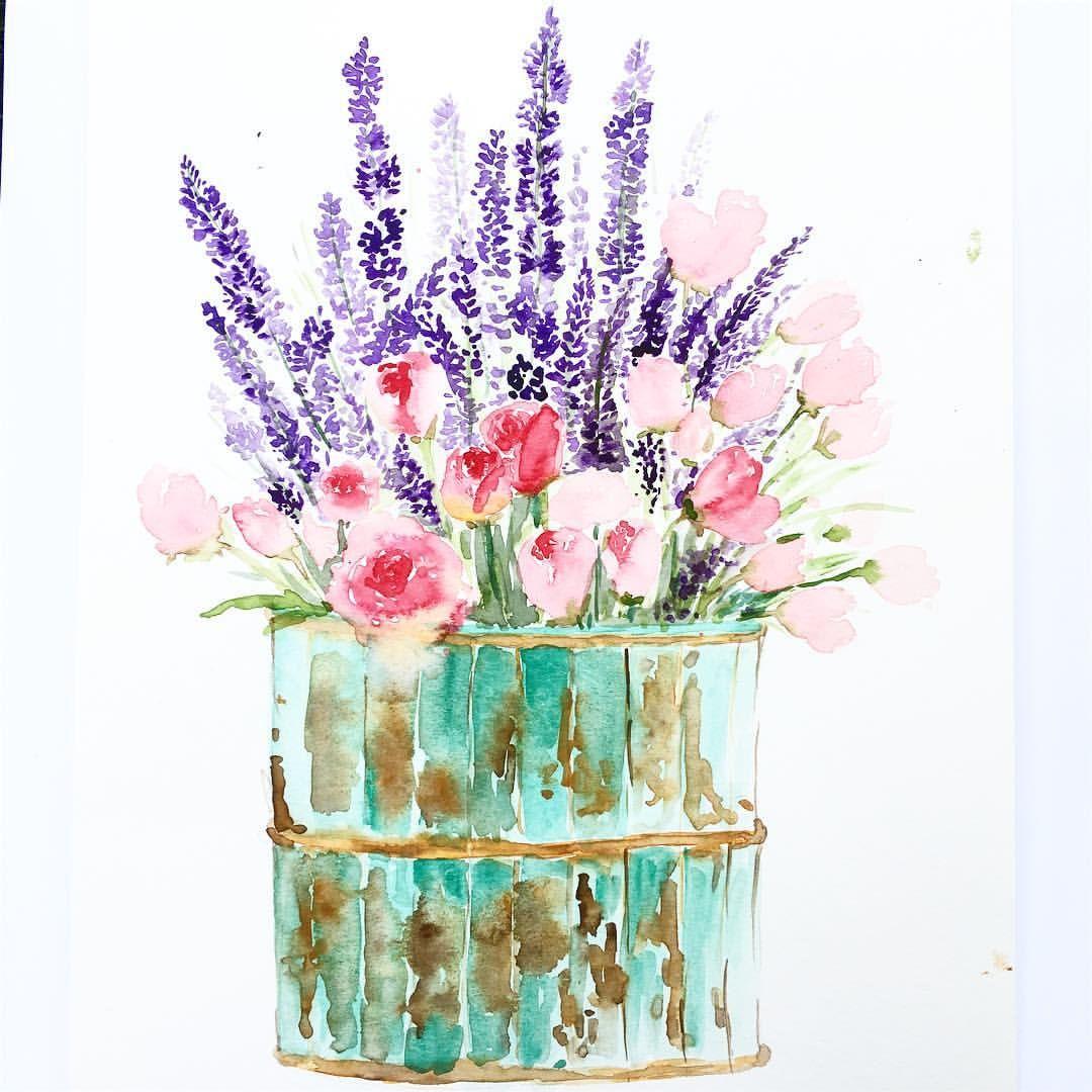 Открытки с днем рождения цветы акварель