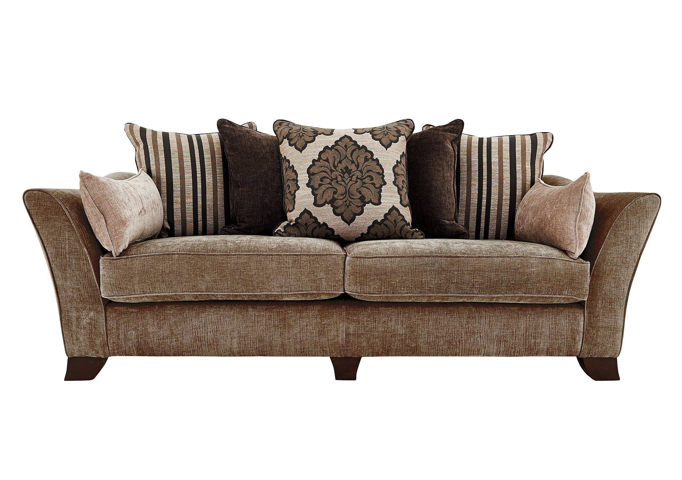 fortably roomy with five scatter back cushions Scatters in a