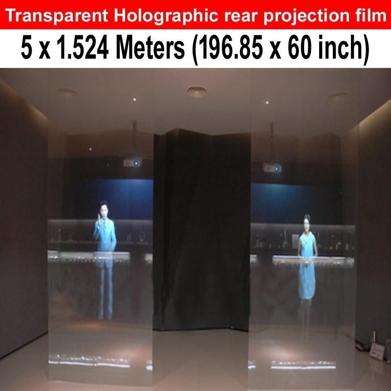 Transparent 5 Meters X 1 524 Meters Clear Rear Projection Film For