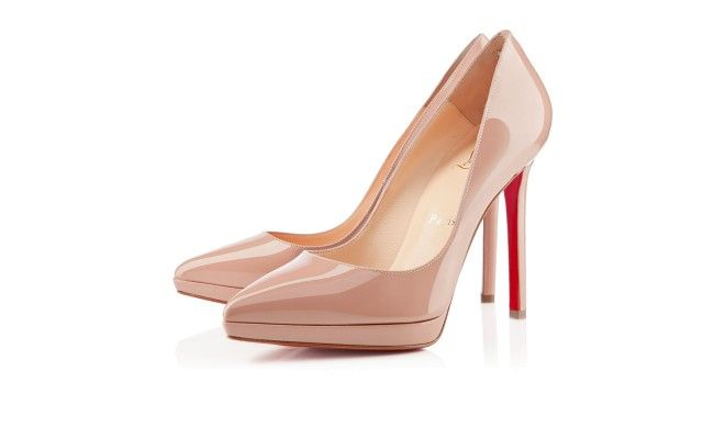 0079b58fd2d8 Pigalle Plato 120 Nude Patent Leather - Women Shoes - Christian Louboutin