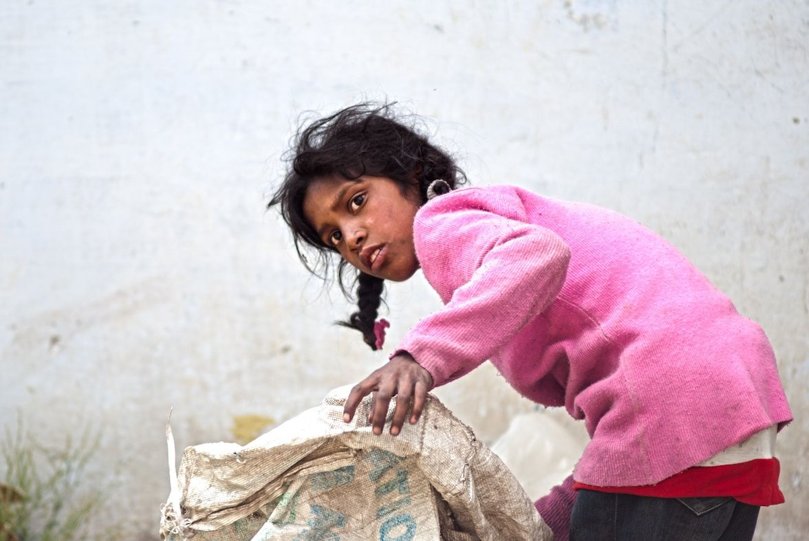 Collecting garbage - Happy Village, Mussoorie