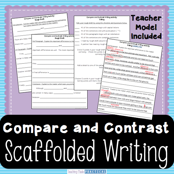 Compare And Contrast Essay  Scaffolded Writing For Rd Grade Th