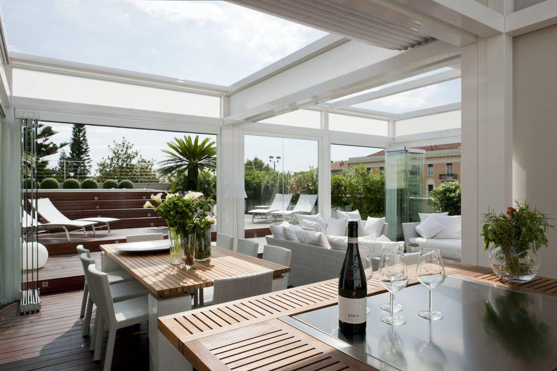 Una veranda per il terrazzo e anche in inverno - Serre per terrazzi ...