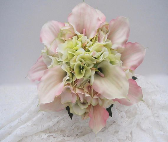 Bridal Bouquet Gorgeous Hydrangea with Real Touch Calla