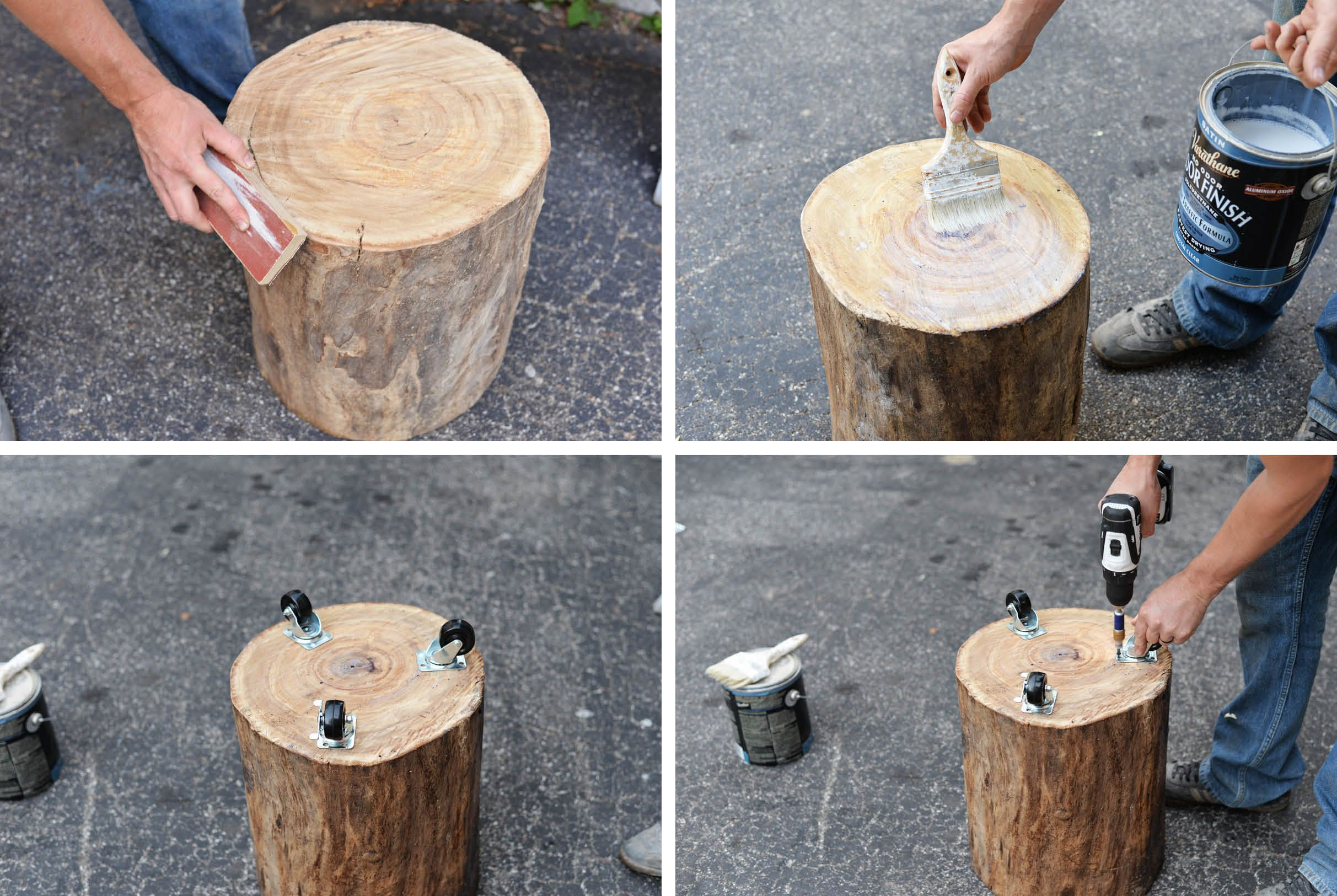 Diy Tree Stump Side Table Tree Stump Side Table Diy Side Table