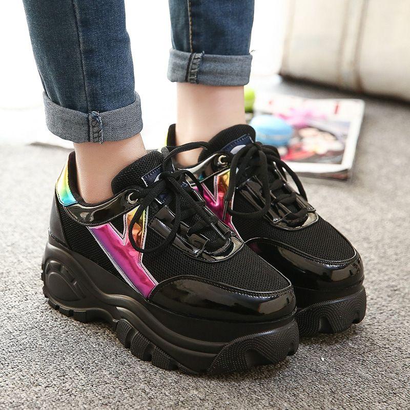 b255f73349d Size 35-39 Harajuku Women Casual Shoes 2015 Retro Trifle Platform ...