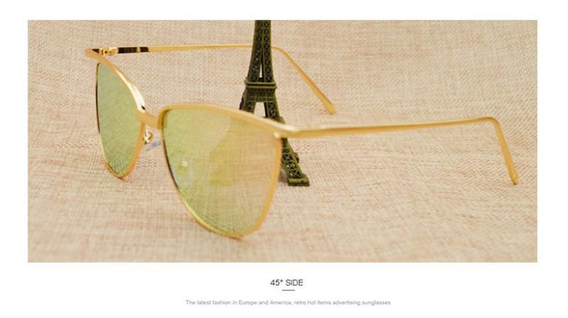 124ab0d3e4b8c4 Brand designer cat eye red sunglasses ladies vintage shades tinted color  lens women eyewear yellow sun