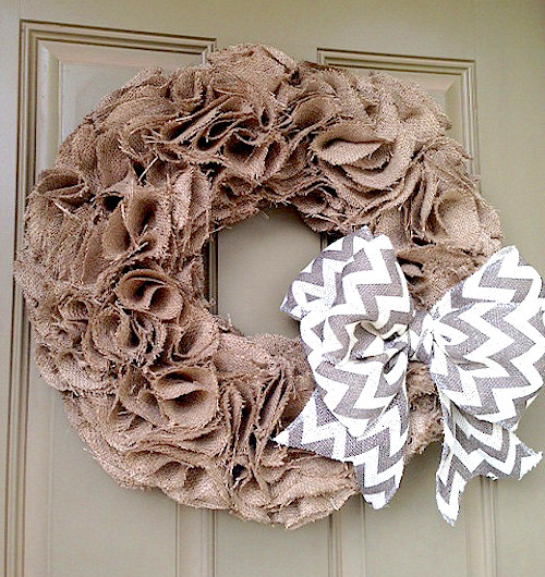 Photo of How to make a pattern burlap wreath (video)